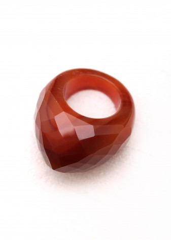 Burgundy Agate Statement Ring