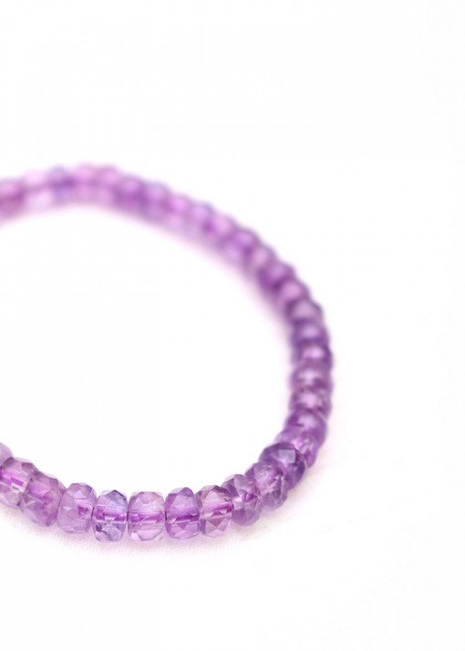 Amethyst Faceted Beaded Bracelet