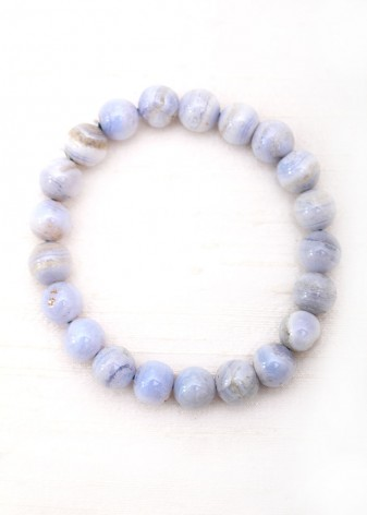 Chunky Purple Agate Beaded Bracelet