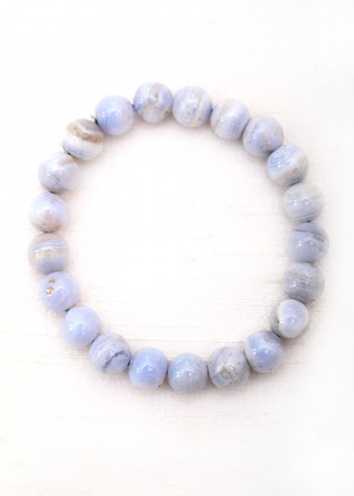 Beaded Purple Agate Chunky Bracelet