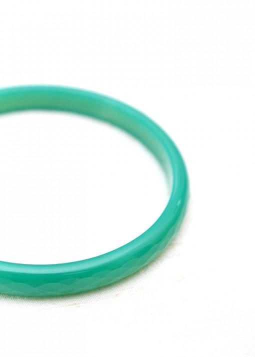 Sea Green Thin Agate Bangle Bracelet