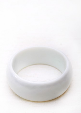 White Chunky Bangle
