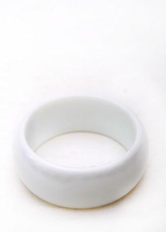 White Chunky Bangle