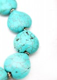 Turquoise Heart Chunky Bracelet
