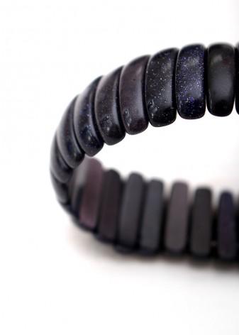 Chunky Shimmering Blue Goldstone Bracelet