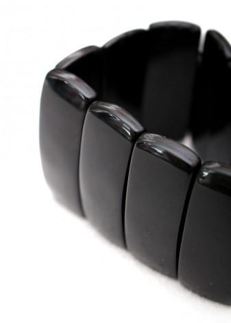 Black Agate Slice Chunky Bracelet