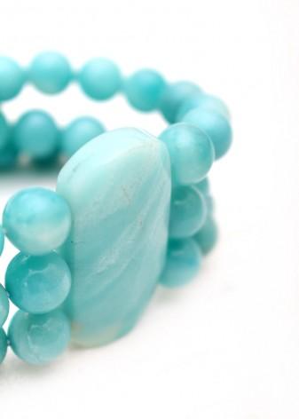 Blue Agate Chunky Bracelet
