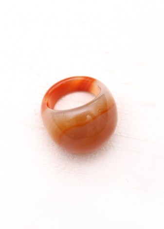 Deep Saffron Chunky Bubble Ring