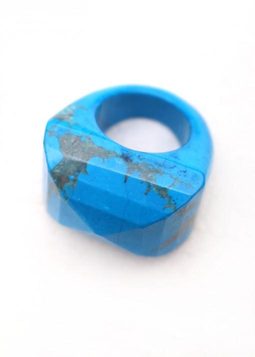 Statement Blue Howlite Ring