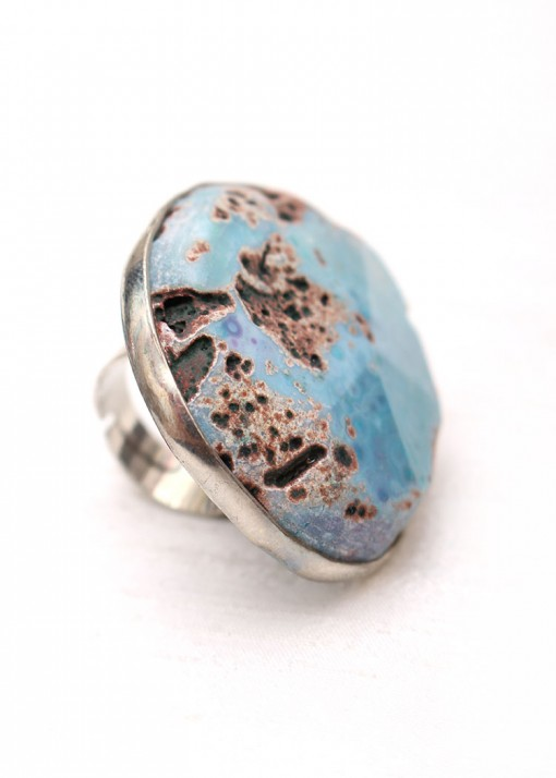 Oversized African Turquoise Ring