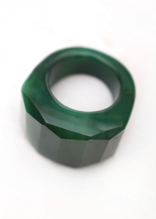 Green Agate Statement Ring