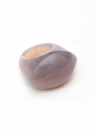 Grey Agate Chunky Ring