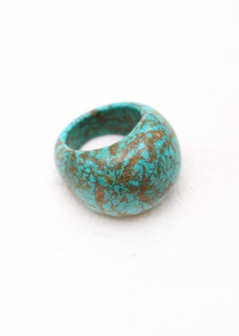 Round African Turquoise Ring