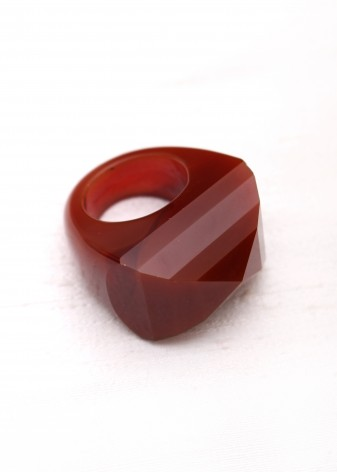 Auburn Faceted Chunky Ring