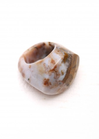 Natural Agate Chunky Ring