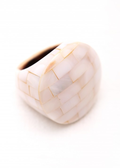 Statement Mother of Pearl Ring