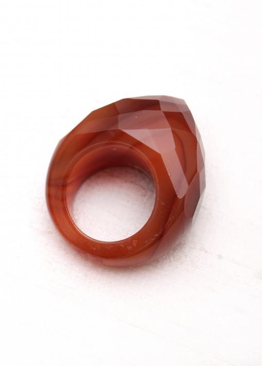 Burgundy Agate Statement Ring