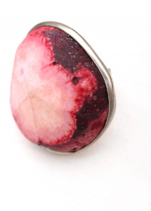 Oversized Crazy Agate Ring