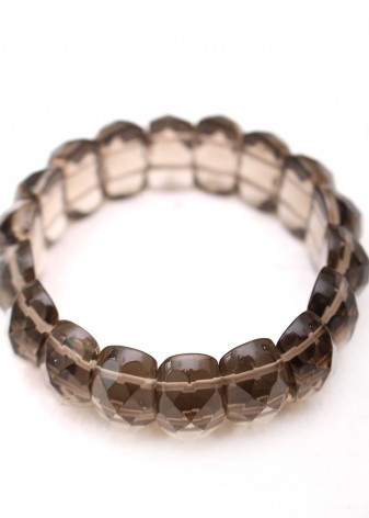 Faceted Crystal Beaded Bracelet