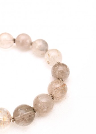 Flecked Clear Glass Beaded Bracelet