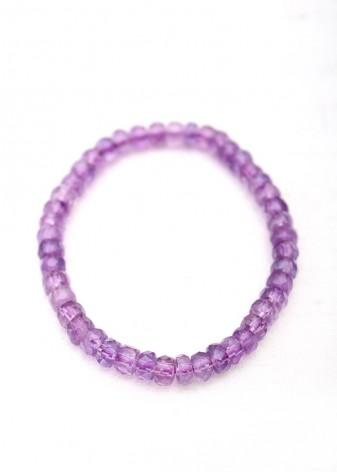 Amethyst Faceted Beaded Bracelet