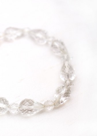 Crystal Teardrop Beaded Bracelet