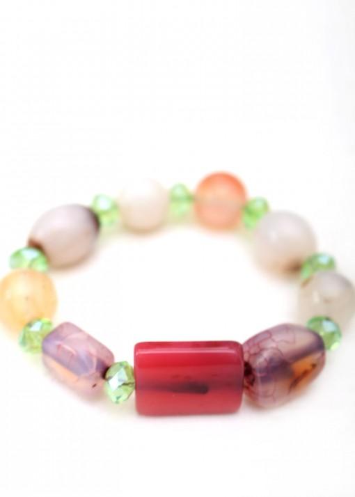 Beaded Colourful Irregular Bracelet