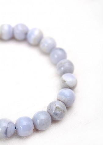 Chunky Purple Agate Beaded Bracelet