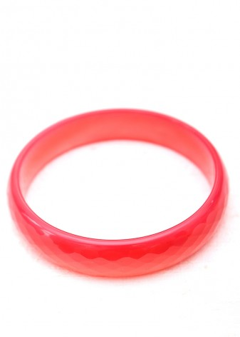 Red Faceted Bangle Bracelet
