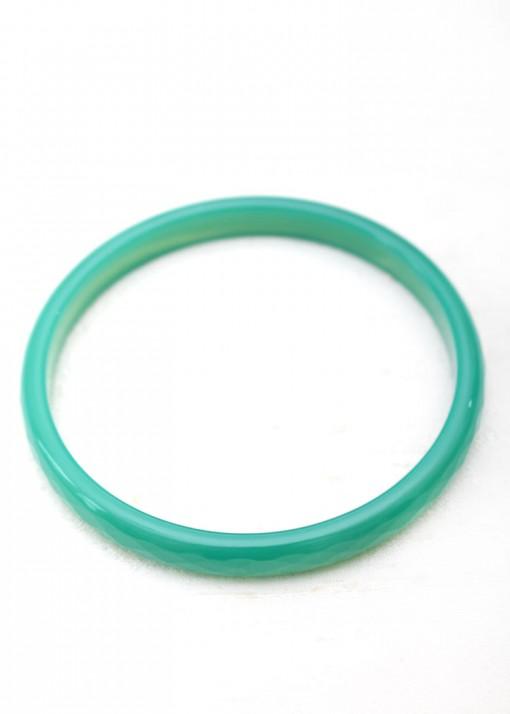Thin Agate Sea Green Bangle Bracelet