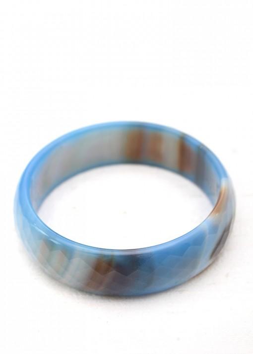 Faceted Semi-Precious Blue Bangle