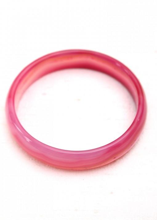 Crazy Agate Pink Bangle Bracelet