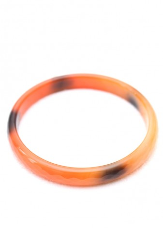 Orange and Black Print Bangle