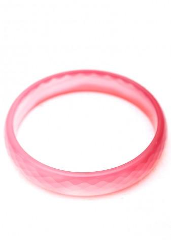 Semi-Precious Faceted Pink Bangle