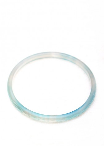 Delicate Blue Bangle Bracelet