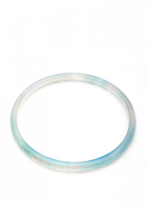 Blue Delicate Bangle Bracelet