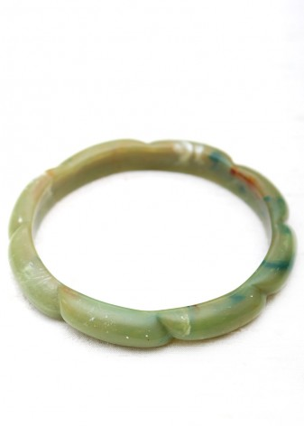 Natural Green Agate Bangle