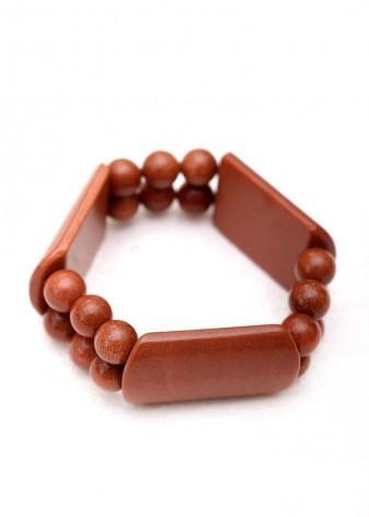 Beaded Goldstone Chunky Bracelet