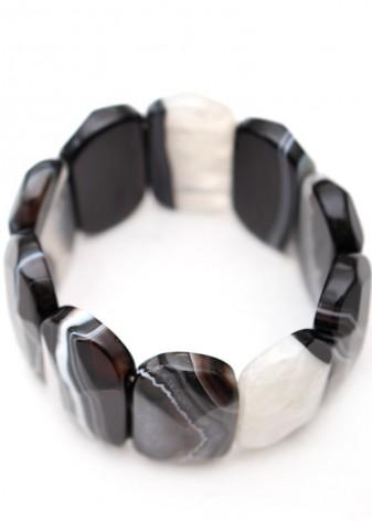Black Agate Druzy Bracelet