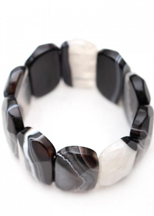 Druzy Agate Black Bracelet