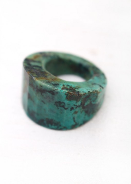Chunky African Turquoise Ring