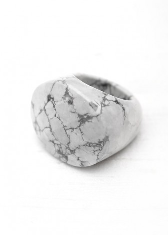 White Howlite Chunky Ring