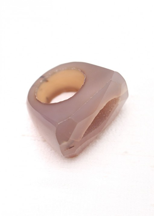 Faceted Purple Agate Ring