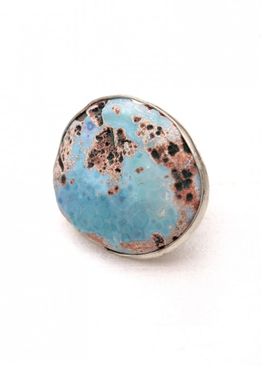 African Turquoise Oversized Ring