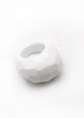 Sugar White Chunky Ring