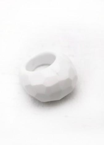 Sugar White Chunky Ring