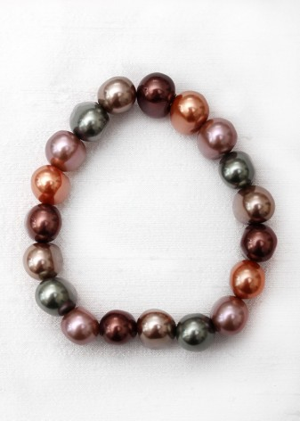 Metallic Pearl Beaded Bracelet