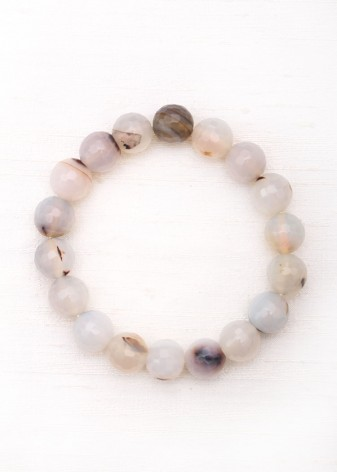 Cloudy Agate Beaded Bracelet