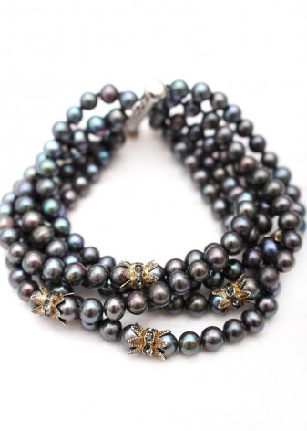 Fashion Coloured Pearl Beaded Bracelet