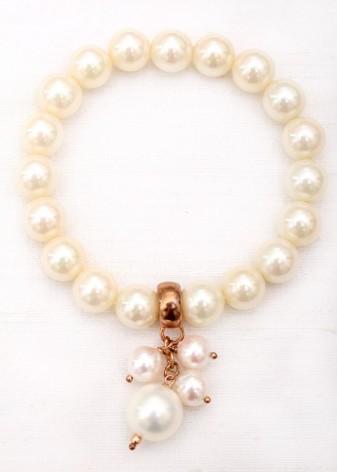 Pearl Charm Beaded Bracelet